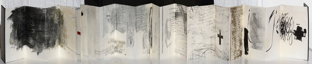 Maria Noel Artist Book, Series  On Books, Labyrinths and Poets , 2009 mixed media on paper and bound with conjoined papers 11 x 8 x 1 in. (overall book size)  18 conjoined double-sided pages