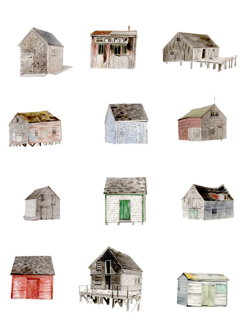 Scott Bluedorn  12 Shanties , 2016 archival digital giclee print 16 x 20 in. edition of 25