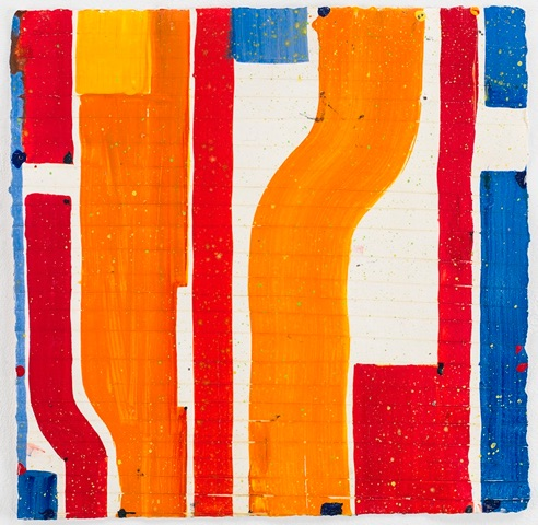 Caio Fonseca  Pietrasanta P13.74  gouache on paper 14 x 14 in.