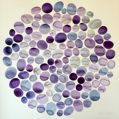 Idoline Duke   Lavender Pools , 2016  watercolor on paper  30 x 30 in.
