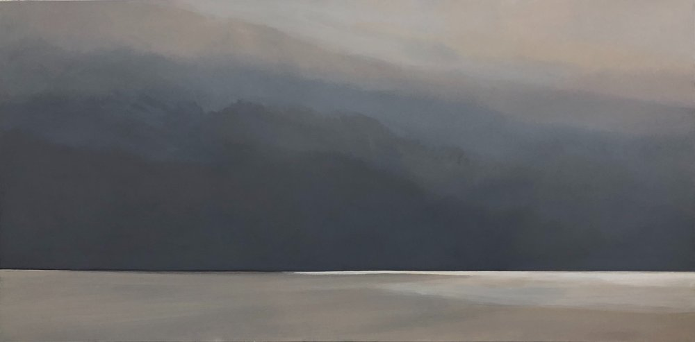 Janet Jennings  Cloud Break , 2018 oil on canvas 30 x 60 in.