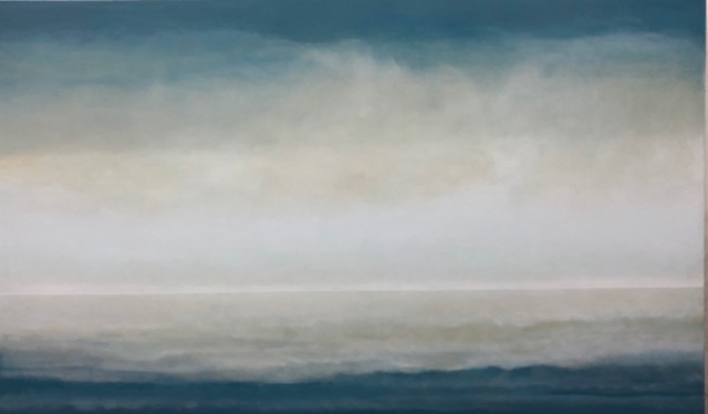 Janet Jennings  Seasmoke IV , 2017 oil on canvas 36 x 60 in. SOLD