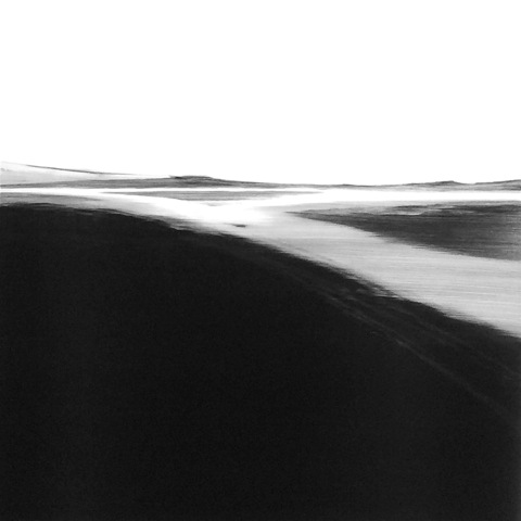 Frances Ashforth  Water Study 37 , 2015 unique waterbase monotype 30 x 30 in.