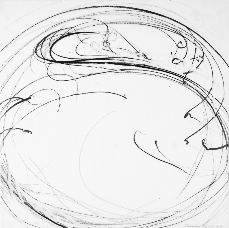 Jaanika Peerna  Undulations 13,  2013 pigment pencil on mylar 18 x 18 in.