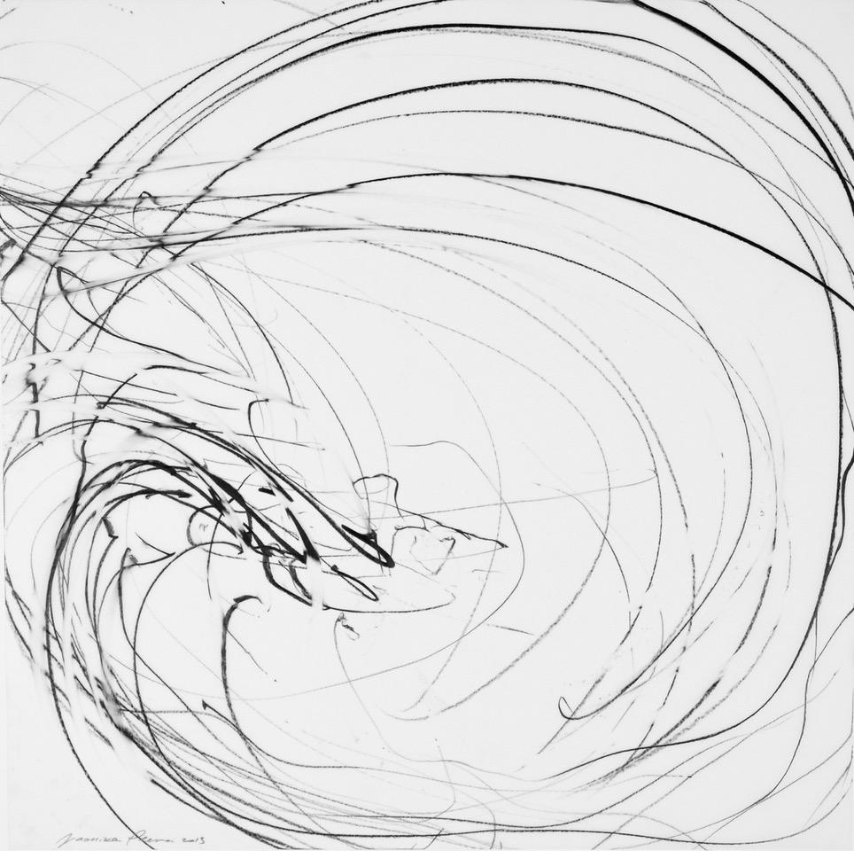 Jaanika Peerna  Undulations 14,  2013 pigment pencil on mylar 18 x 18 in.