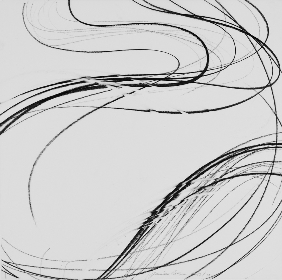 JAANIKA PEERNA  Undulations 18,  2013 pigment pencil on mylar 18 x 18 in.