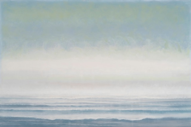 JANET JENNINGS  Atlantic Fog,  2018 oil on canvas 40 x 60 in.