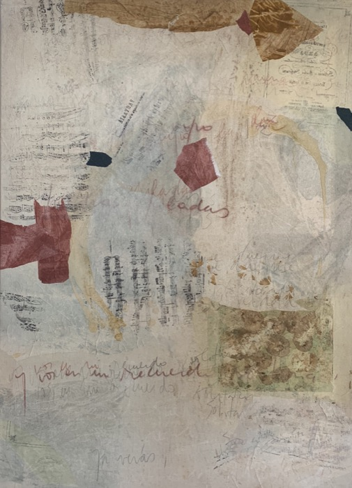 MARIA NOEL  Piano Variations in Italian Mood , 2008 mixed media on canvas 51 1/4 x 37 1/4 in.