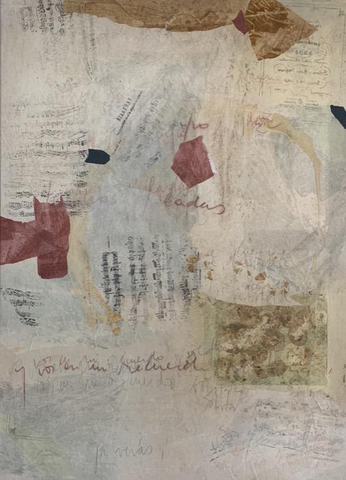 MARIA NOEL  Piano Variations in Italian Mood , 2008 mixed media on canvas 51 1/4 x 37 1/4 in.