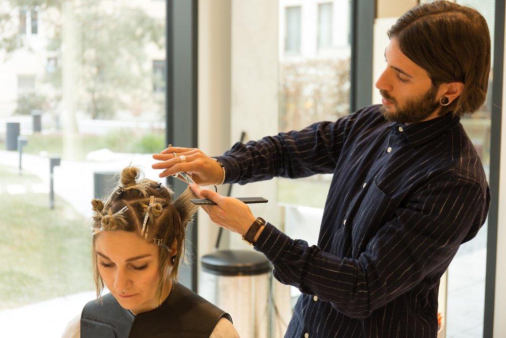 Mattia Esposito Cutting Hair