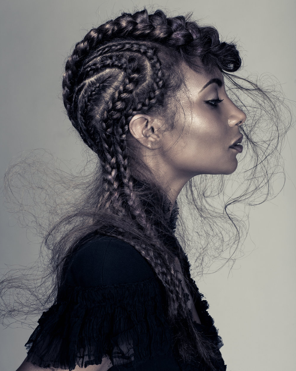 Luke Benson editorial hair