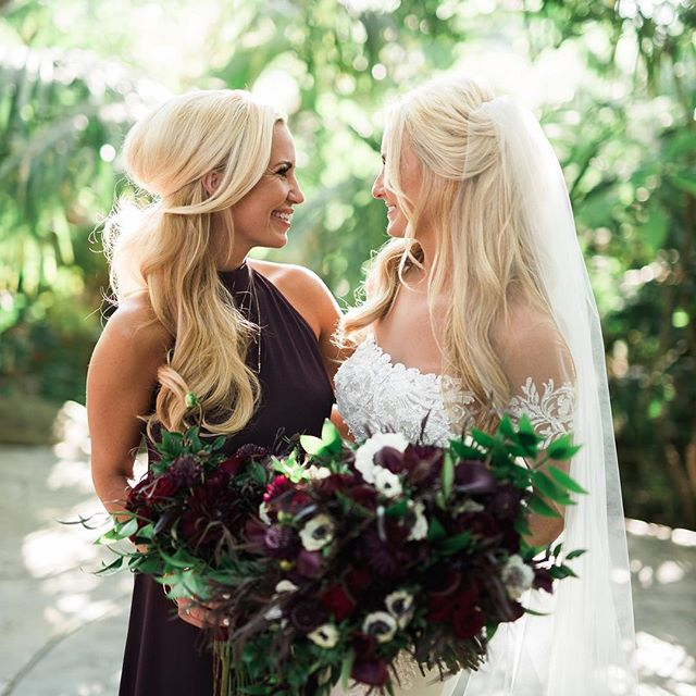 🌹Sisters🌹  I had the pleasure of doing both of these beautiful ladies weddings one year, and then the following year. Fun Fact, they each had over 15 bridesmaids! 🍃Referrals are still always the best way to receive a new client! 🌿But, I also love when people find me on the Instagram! 🌱Hair Half up styled using @biolage R.A.W Texturizing Styling Spray . . . Double tap if you love ❤️ . . . #maui #breerubinhair #mauibride #mauimakeupartist #mauihairstylist #bride #weddinghair #weddinginspo #hairinspo #engaged #boho #bridalmakeup #bridalhair #updo #hawaii #braids #romantic #beautyblogger #goals #mauiwedding #hairstyles #theknot #weddingwire #hairgoals #classy #fall #love #wedding #bridetobe