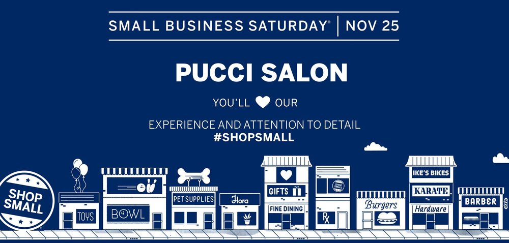 pucci salon small business saturday 2017