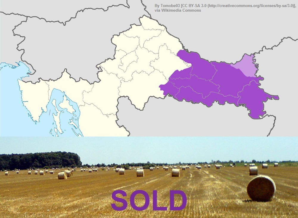 Slavonia shown in purple. But, the drilling area is slightly larger extending to the northwest.
