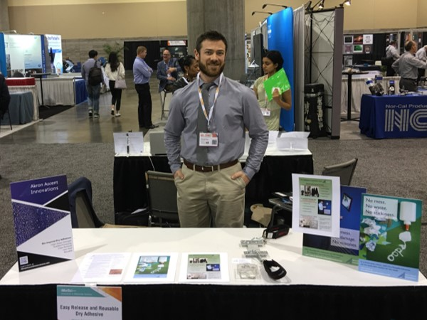 Akron Ascent Innovations' Chief Operating Officer, Dr. Kevin White, presents at a booth at the Materials Research Conference in Phoenix, AZ.