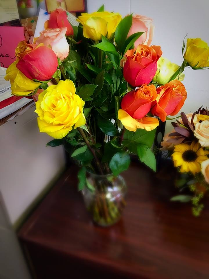 Beautiful flowers sent to Attorney Mayson, from amazing clients! We love what we do here, at Dhade and Associates and we enjoy making people happy and feeling whole and safe. Thank you for your wonderful gift.