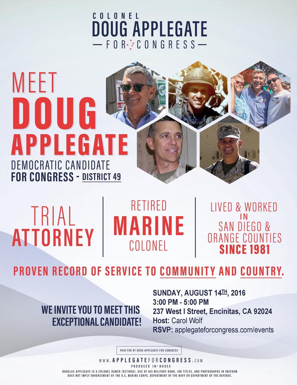 Meet And Greet Colonel Doug Applegate With Carol Wolf Doug