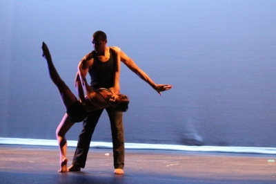 Baila ConmiGA performing at the Sottile Theater...we erred on the side of VERY simple.