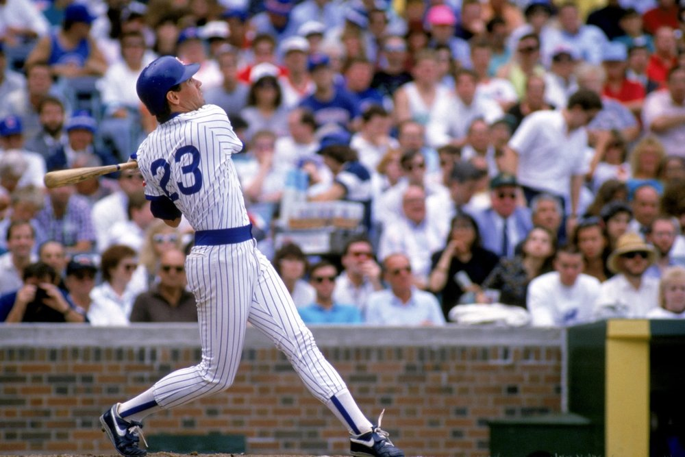 Ryne Sandberg played for the Cubs 1982-1994, 1996-1997