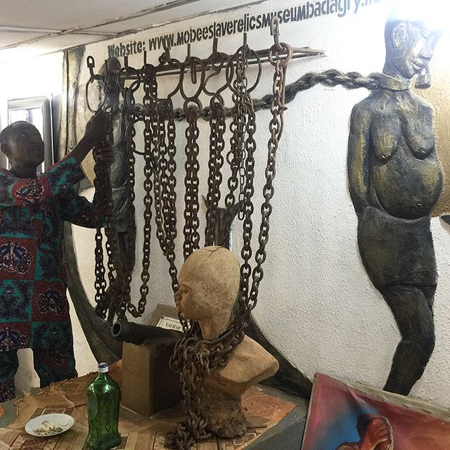 PG: Not all images were included. These images might be troubling and sadden viewers.  Images taken at The Mobee Royal Family Slave Museum during The Returnees Road Trip to Badagry  Those chains were hella heavy 😞😢 #TheReturnees #Badagry #MobeeRoyalFamilyMuseum #RoadTrip
