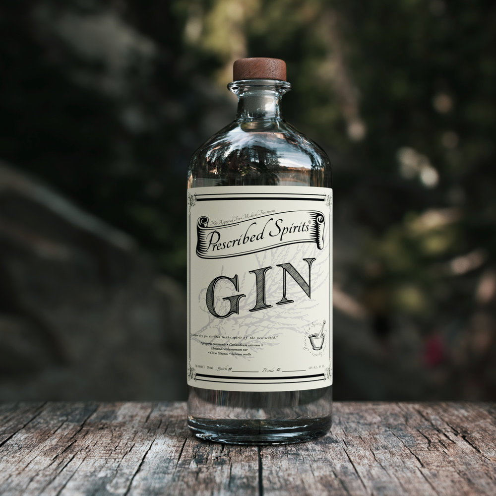 PRESCRIBED SPIRITS GIN - South Florida hand crafted gin, Chef developed with flavor in mind from                                      start to finish.