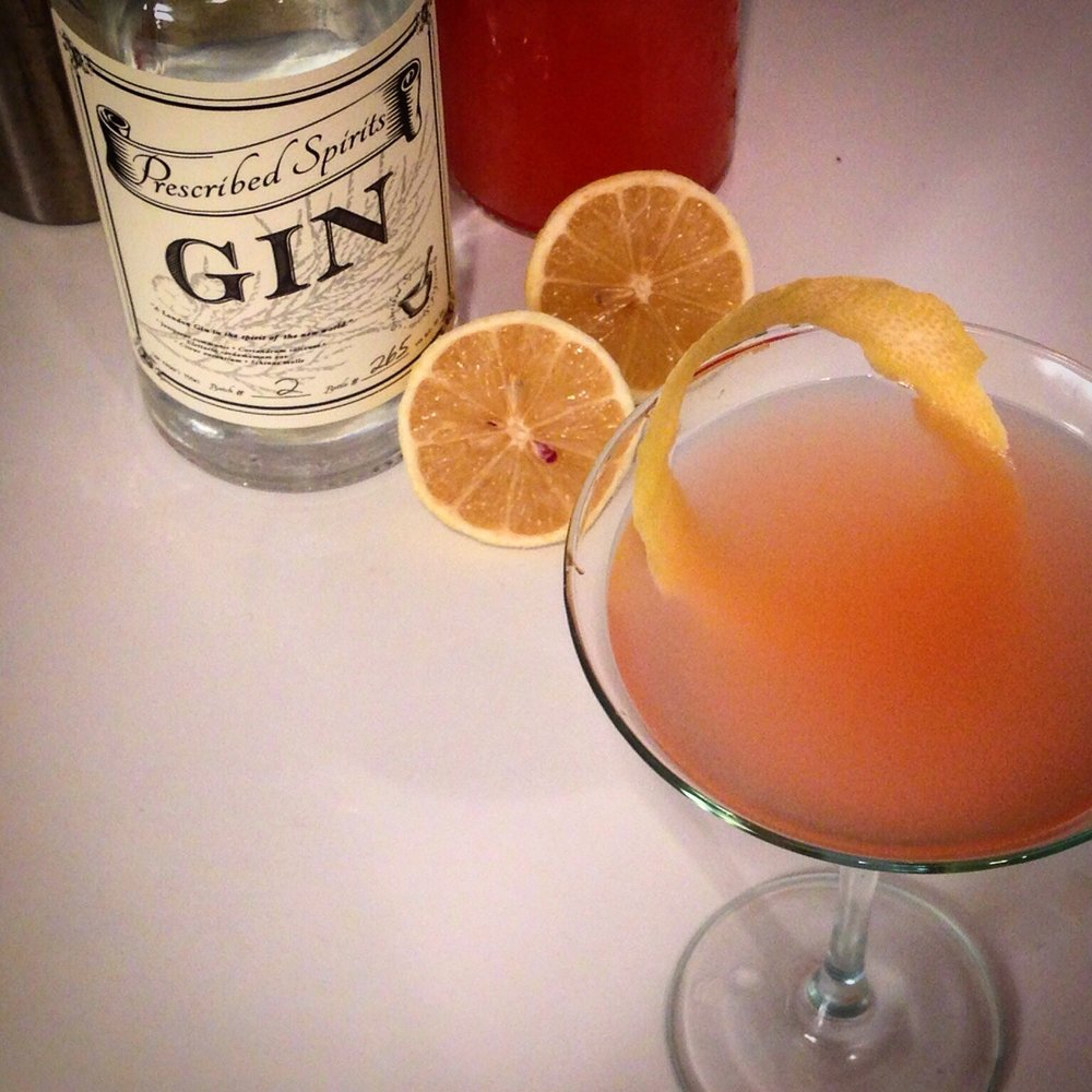 PRESCRIBED FRENCH 75  - 2 ozPRESCRIBED SPIRITS AMERICAN GIN1 oz FRESH BLOOD ORANGE JUICE1 oz SIMPLE SYRUPTOP WITH A NICE DRY CHAMPANGEADD THE GIN , SIMPLE SYRUP AND THE BLOOD RANGE JUICE INTO A CHAMPAGNE FLUTE . MIX WELL AND TOP WITH CHAMPNGE.