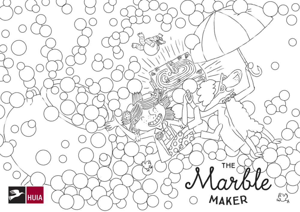 The Marble Maker  colouring in template