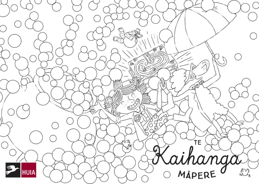 Te Kaihanga Māpere  colouring in template.