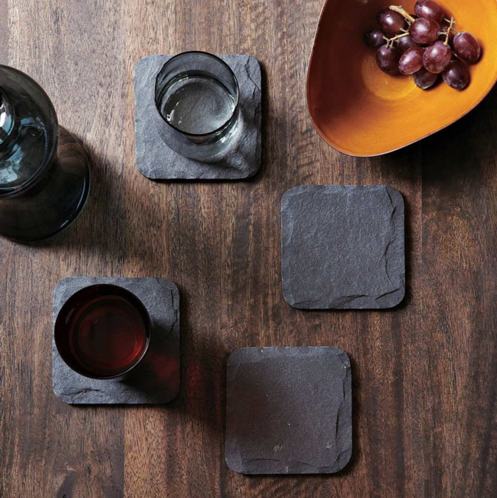 The Little Directory - slate coaster set