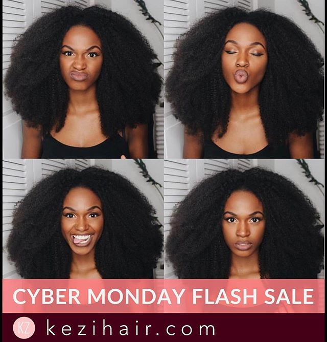 Issa Flash Sale! $40 OFF EVERY ORDER including @kiitana's Afro Kinky Curly look! Use Code: CYBERMONDAY17 Valid Until: 11.18.17 11:59pm EST.  Excludes Bundle Deals.