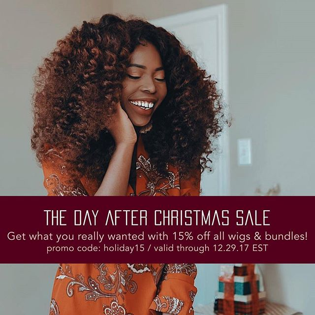 It's better to give than to receive but it's the day after Christmas, so treat yourself 😉 - Get 15% off most products with the Day After Christmas Sale 💃🏾