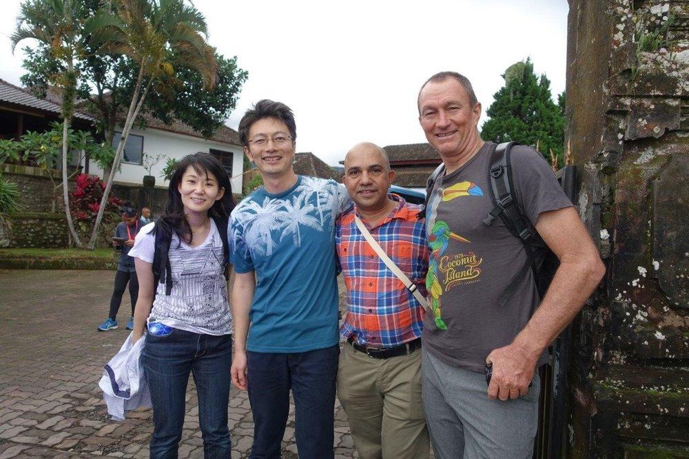 Me flexing with (R-L) Dr Remi Chandra, Dr Takuya Saito and Dr Hibiki Noda (photo: Shiho Sato).