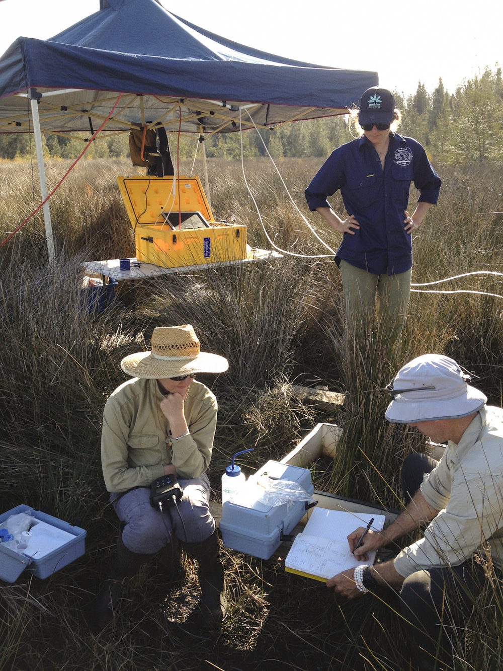 Measuring soil redox conditions with geoscience team