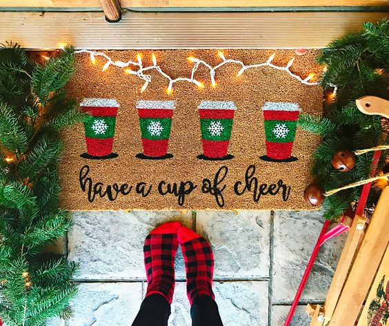 Holiday Door Mat