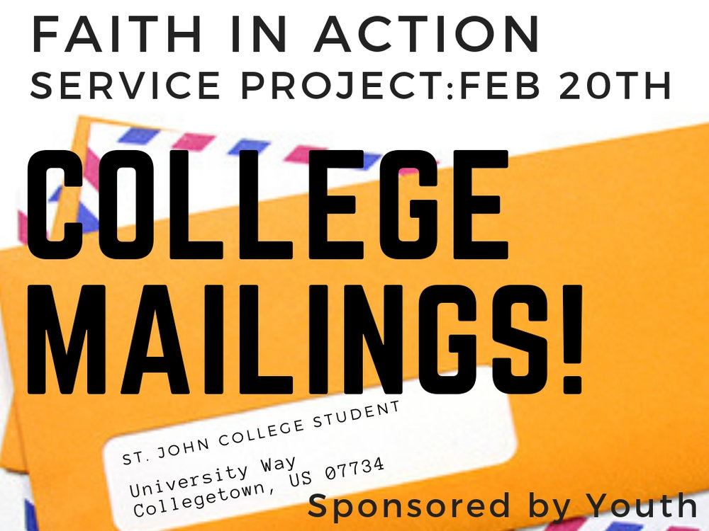 february 20th  send mail to college students
