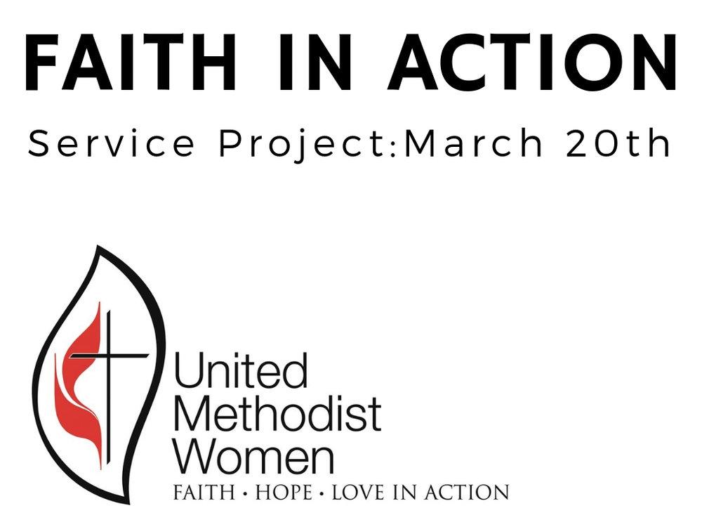 March 20th  United methodist women
