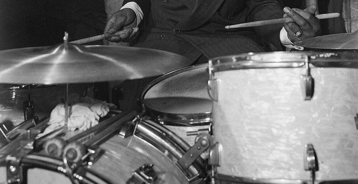 Cozy Cole drum close-up