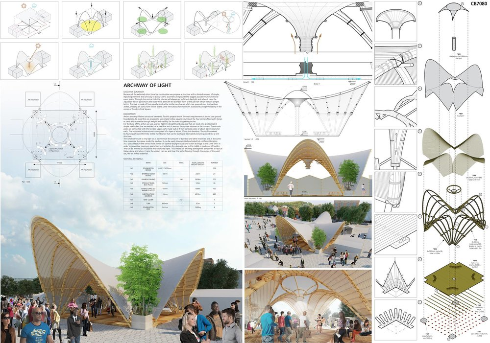 HONORABLE MENTION: 'ARCHWAY OF LIGHT' By Roland Winkler, Livio Ercoli, Kostiantyn Komarovskyi, Liu Yuchen, Pu Mas from MUDI Group in Shanghai, China
