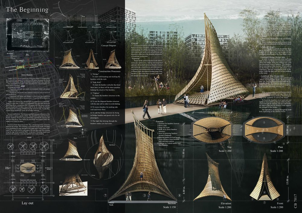 HONORABLE MENTION: 'THE BEGINNING' by Mr Karn Khamkaew, Lecturer, Faculty of Architecture Chiang Mai University and Miss Sawanun Thamakaew, A-R-M Associate Co Ltd from Thailand