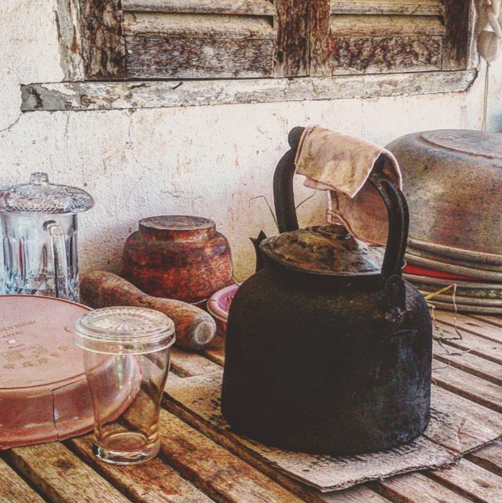 A rustic Phnom Penh kitchen.