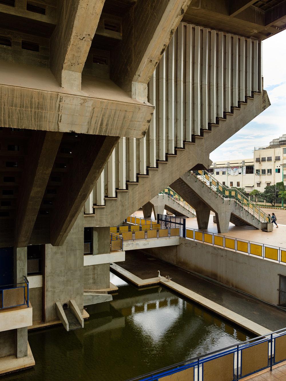 Olympic Stadium, designed by Molyann. Photo by  Virgile Simon Bertrand .