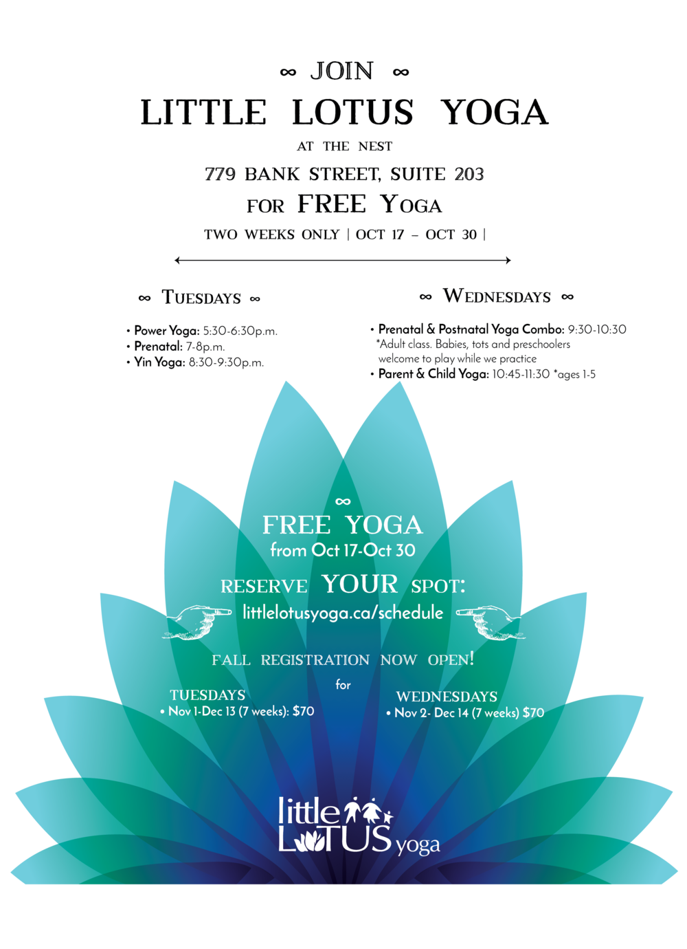 Event poster - Little Lotus Yoga