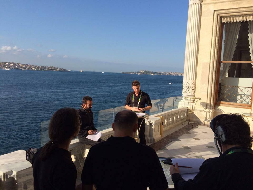 There could be worse places to brief a tech team! Ciragan Palace, Istanbul, Turkey.