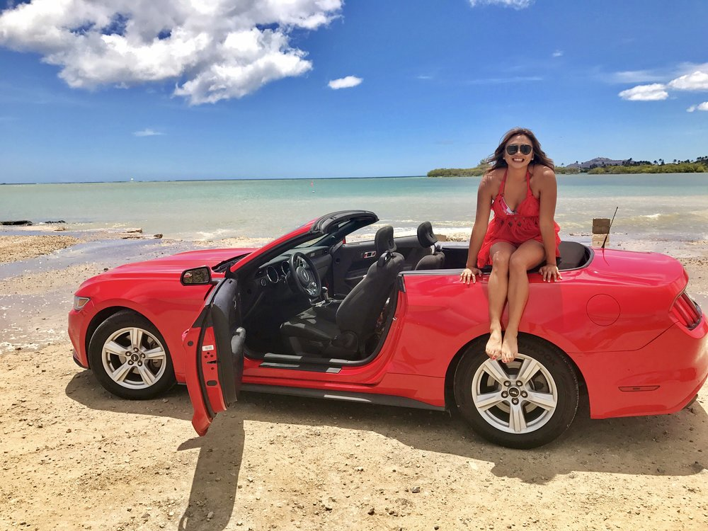 Getting lost and ending up at Maunalua Bay (car rental via Thrifty)