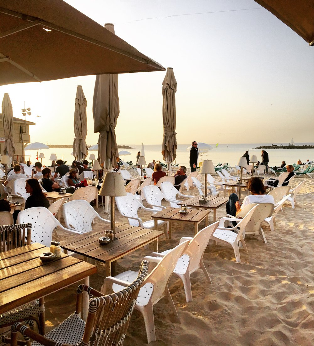 Sunsets at La La Land, Gordon Beach, Tel Aviv.