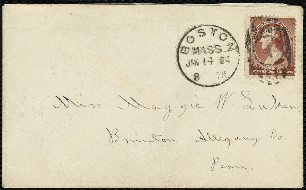 Louisa May Alcott to Maggie Lukens, Boston Public Library
