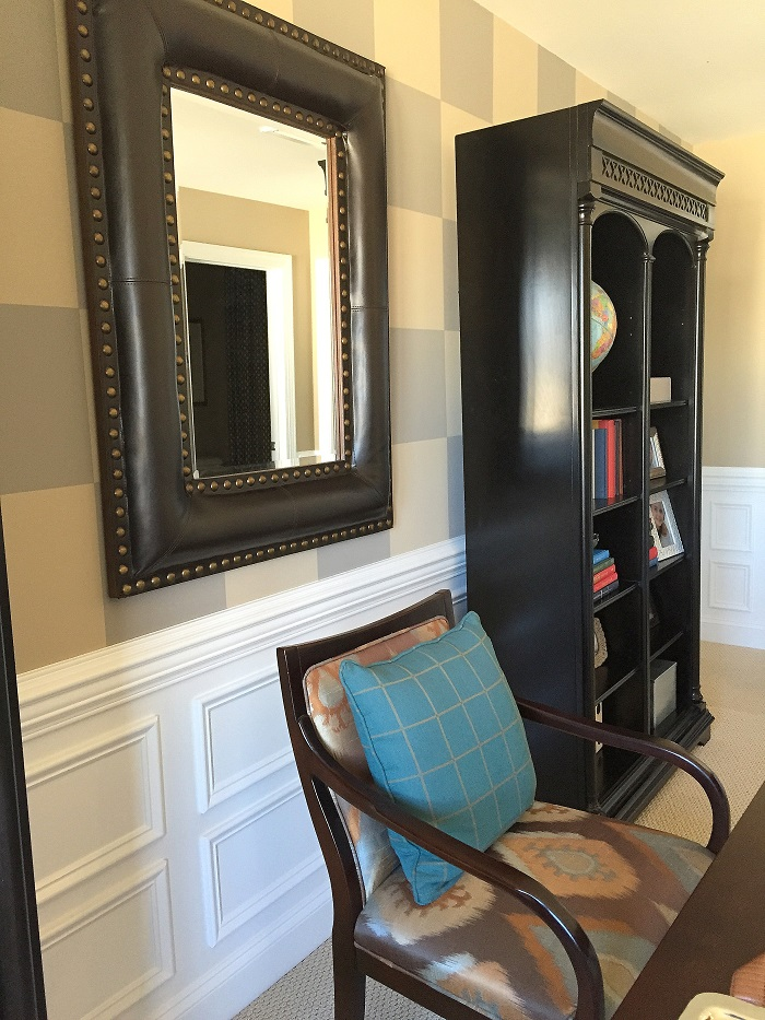 painted wall treatment, accent wall, interior design chapel hill, decocco design, decoco drapes