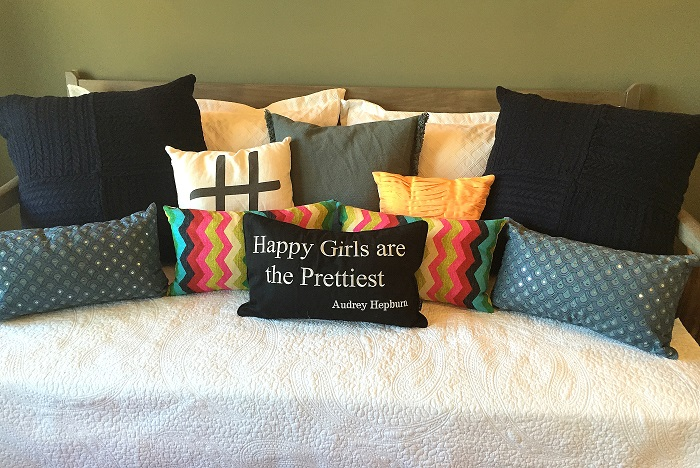 message pillows, throw pillows, accent pillows, lumbar, guest bedroom