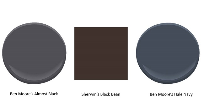 best dark paint colors, best black colors, interior paint colors, benjamin moore, sherwin williams