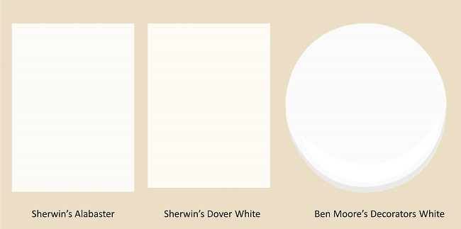 white paint colors, interior color, best color for moldings, trim color, what color should I paint my trim, interior design raleigh